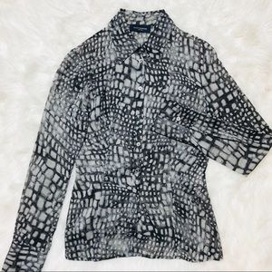 •Piazza Sempione• $845 Silk snake print Shirt